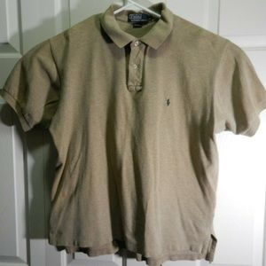 Polo Ralph Lauren Mens Shirt sz Large Beige